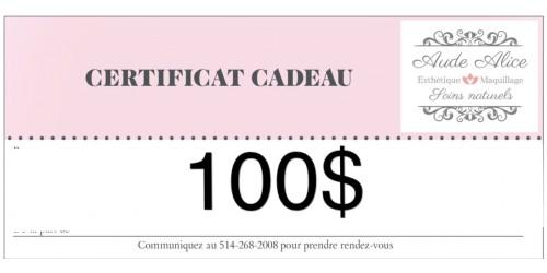 Certificat cadeau - 100$